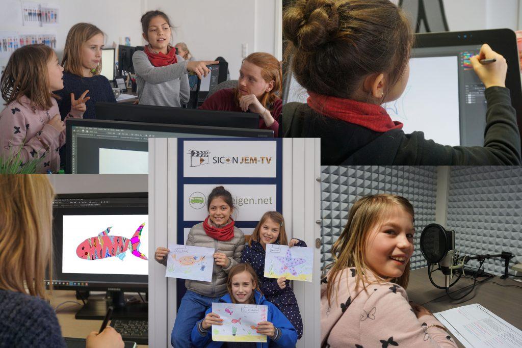 Am Zukunftstag hatten wir drei Mädchen zu Besuch. Im Media Team haben sie sich angeschaut, wie ein 2D animierter Clip entsteht und kurz darauf haben sie ihren eigenen Kurzfilm gestaltet.